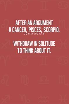 Cancer Zodiac Sign ♋, Pisces, Scorpio