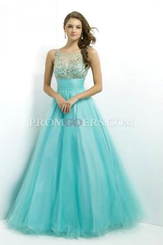 Ball Gown  Scoop  Sleeveless  Floor Length  Tulle  Beading  Zipper Up