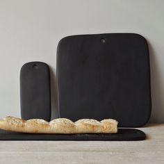 black resin serving boards