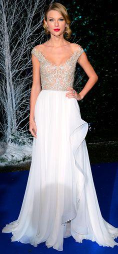 Taylor Swift at the Winter Whites Gala at Kensington Palace