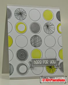Card by Cornelia using Vignette: Retro Mod Shapes and Bloom Sketches