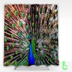 Cheap Bird Peacock Beautiful Shower Curtain