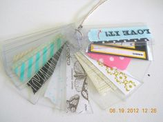 Washi samples, ideal to use over your layout to see what it would look like.