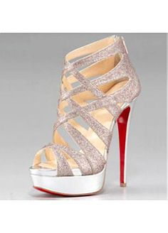 Fantastic Suede Stiletto Heel Open Toe Party/Evening Shoes