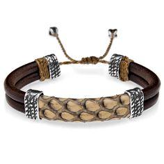 Platadepalo Leather Bracelet. BoumanOnline.com