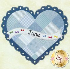Celebrate the Year - June Kit Celebrate the Year is a Shabby Exclusive designed by Jennifer Bosworth! Create adorable seasonal decor for your home by framing it, making a pillow, or making a quilt!