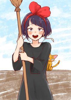 My Hero Academia and Kiki's Delivery Service crossover - Kyouka Jirou (耳郎 響香) as Kiki