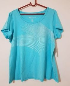 16.82$  Watch now - http://visug.justgood.pw/vig/item.php?t=s38vfjz0245 - IDEOLOGY PLUS SIZE 2X WOMEN'S ESSENTIAL GRAPHIC TEE CRYSTAL MIST SEMI-FITTED NWT