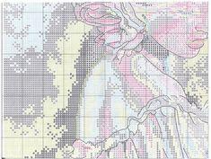 Схема вышивки Woman With Bouquet (Dimensions) 3 из 8
