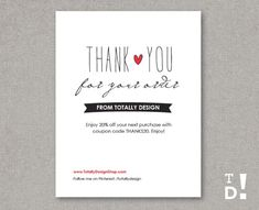 business thank you cards template instant download naturally