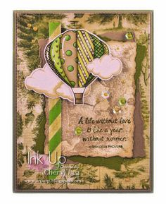 Ink Up: Mean Green Flying Machine--Masculine Anniversary Card
