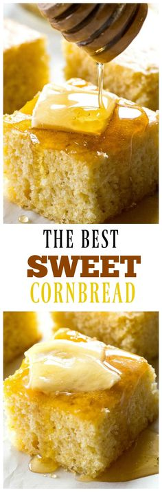 The Best Sweet Cornbread - soft, tender cornbread that\'s sweet just like I like it. the-girl-who-ate-...