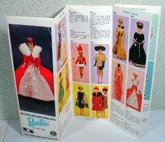 Rare Mattel Barbie French Color Fashion Booklet, 1965