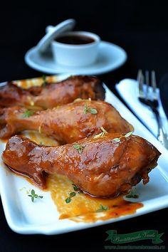 Pulpe de Pui cu Sos de Soia o reteta rapida. Carne, French Toast, Pork, Turkey, Menu, Chicken, Breakfast, Recipes, Yummy Yummy