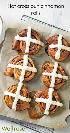 Try Martha Collison's delicious recipe for Hot Cross Bun cinnamon rolls – it's a brilliant hybrid of two scrumptious bakes. Get the recipe on the Waitrose website.