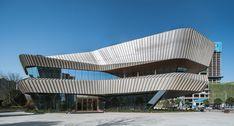 Xiangjiang FFC Marketing Display Centre | Woods Bagot #Changsha #China #Glass #Steel #WoodsBagot