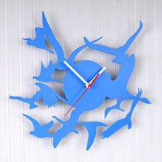 Birds Wall Clock Blue, $39, now featured on Fab.