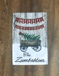 Christmas Garden Flag, Burlap Christmas Tree, Outdoor Christmas Decorations, Rustic Christmas, Garden Flag Holder, Garden Flags, Grandparent Gifts, Craft Stores, Customized Gifts