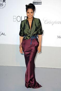Janet Jackson Evening Dress Brand: Haider Ackermann
