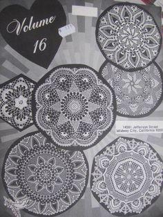 Crochet Designs Pattern Book by Elizabeth Hiddleson Volume 16 Doily Patterns, Vintage Patterns, Cross Stitch Patterns, Sewing Patterns, Crochet Patterns, Costume Patterns, Crochet Books, Pattern Books, Crochet Designs