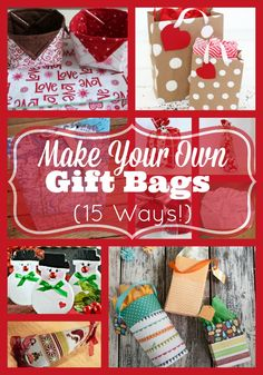 ~ Round up of some different ways that you can make your own gift bags from items you may have at home.