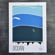 """Oceans cover about 72% of the earth's surface and oceanographers say only 5% of the ocean has even been explored. Wild! Happy Earth Day! Use code """"earthday"""" at checkout to get a discount on this print today on wearebrainstorm.com. #print #ocean #earth #science #poster #layers #thedeep #thedeepbluesea #marine #waves #artprint #habitat #sea #water #earthday2015 #happyearthday"""