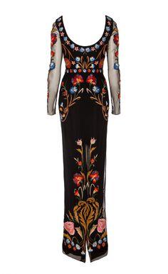 Long Toledo Tulle Dress | Evening Gowns | Temperley London