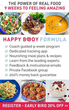 Overindulge a little this Easter? Get back on track with your healthy lifestyle with the NEW Happy Body Formula. It's a 9 week program complete with meal plans, fitness tips, dedicated tracking app, coaching and access to top health experts' best tips! This is an amazing opportunity to reset and recharge your health this spring!