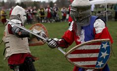 I have to confess I find this a little bit awesome. http://www.nytimes.com/2013/05/09/sports/battle-of-the-nations-a-holy-grail-of-battle-re-enactments.html