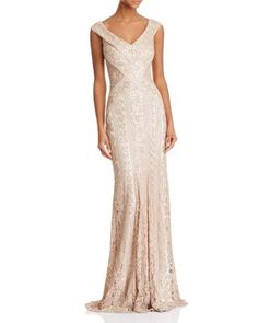 Tadashi Shoji Sequined Lace Gown | Bloomingdale's