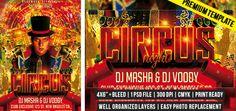 Circus Night – Premium Flyer Template http://www.exclusiveflyer.com/premium-templates/circus-night-premium-flyer-template/