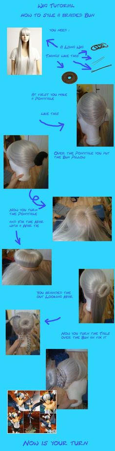 How to style a braided bun, DIY cosplay
