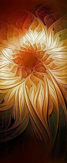 Golden Glory / Fractal art by Amanda Moore