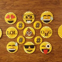 Updates from DesignwithElegance on Etsy 6th Birthday Parties, Birthday Party Decorations, Party Themes, Emoji Decorations, Emoji Theme Party, Carnival Themed Party, Party Organization, Dinosaur Birthday, Backdrops For Parties