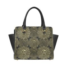 Psylocke PU Leather Designer Handbag with Aztec Golden Coins Print be7d8a4b75400