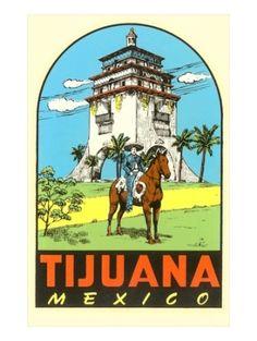 Charro, Agua Caliente, Tijuana, Mexico Premium Poster by lula