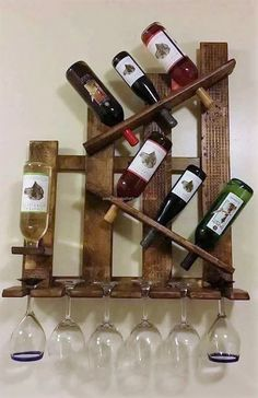 pallet-bottle-shelving Creativity | #MichaelLouis - www.MichaelLouis.com