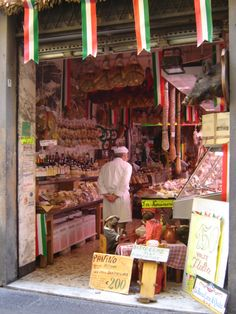 A deli to die for in Pienza, Italy.