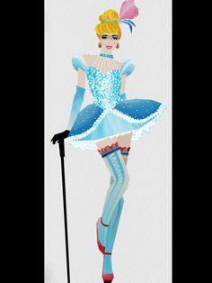 Les princesses de Disney relookées en meneuses de revues du Moulin Rouge