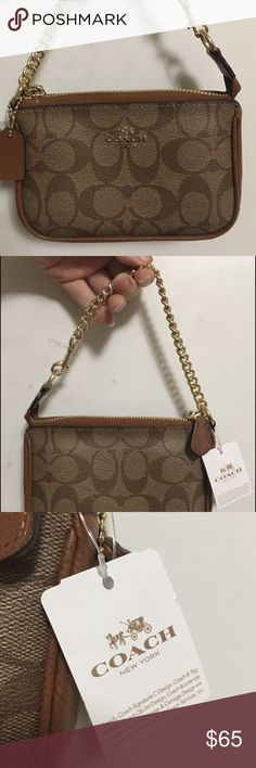 "Coach Clutch ""This handcrafted accessory was designed to hold small electronics, including standard iPhone, Samsung Galaxy, BlackBerry and other mobile devices""... fits iPhone 6, 2 card pockets & 1 small side pocket on the inside, Coach Bags Clutches & Wristlets"