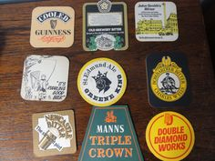 Small Lot British BEER MATS / COASTERS Vintage Guinness Smith Ruddles Manns
