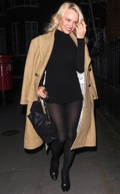 Pamela Anderson from The Big Picture: Today's Hot Photos  Date night vibes! The blonde bombshell is seenarriving at the home of Julian Assange for an evening visit in London.