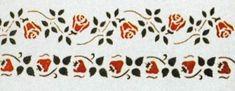 Verfsjablonen / templates / stencils op maat www.dewonderwerkplaats.nl - Verfsjabloon aardbeien border