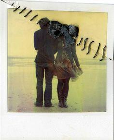 Polaroid stitches #polaroid #stiching #mixedmedia