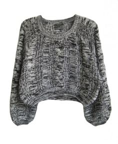 Grey Knitting Wool Pullovers
