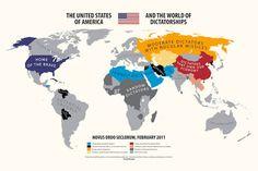 Diesmal starten wir mit vollkommen überspitzten Infografiken in die neue Woche. Sie stammen von Grafik-Designer und Illustrator Yanko Tsvertkovund zeigen die Welt/Europa aus der Sicht von Amerikanern, Deutschen, Griechen, Spaniern, Italienern, Berlusconi