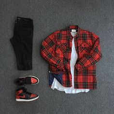 Today. #FOG Plaid Shacket #JamesPerse Cotton Jersey Tee#SaintLaurent Destroyed…
