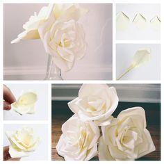 flor de papel maravilloso DIY flor de papel Hermosa F