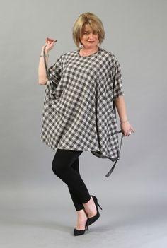 Bluza in carouri B017G-M -  Ama Fashion