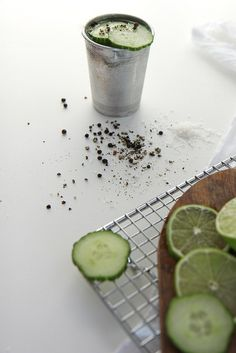 Cucumber Gin Salt and Pepper Cups by joy the baker